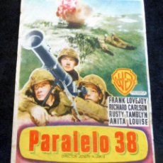 Cine: PROGRAMA DE CINE - PARALELO 38 - CINE CARMEN DE PALAMÓS. Lote 222652951