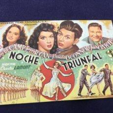 Cine: NOCHE TRIUNFAL - FOLLETO DE MANO SENCILLO - REF. FM-051. Lote 222664835