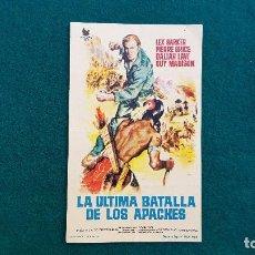 Cine: PROGRAMA DE MANO CINE LA ULTIMA BATALLA DE LOS APACHES (1964) CON CINE AL DORSO. Lote 222665838