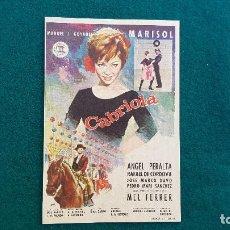 Flyers Publicitaires de films Anciens: PROGRAMA DE MANO CINE CABRIOLA (S/F) CON CINE AL DORSO. Lote 222667532