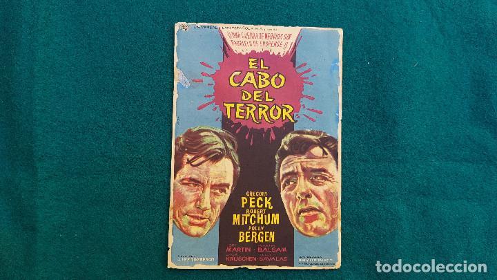 PROGRAMA DE MANO CINE EL CABO DEL TERROR (1965) CON CINE AL DORSO (Cine - Folletos de Mano - Terror)