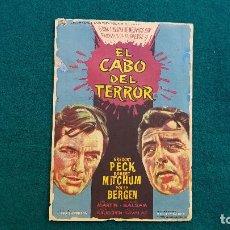 Cine: PROGRAMA DE MANO CINE EL CABO DEL TERROR (1965) CON CINE AL DORSO. Lote 222667662