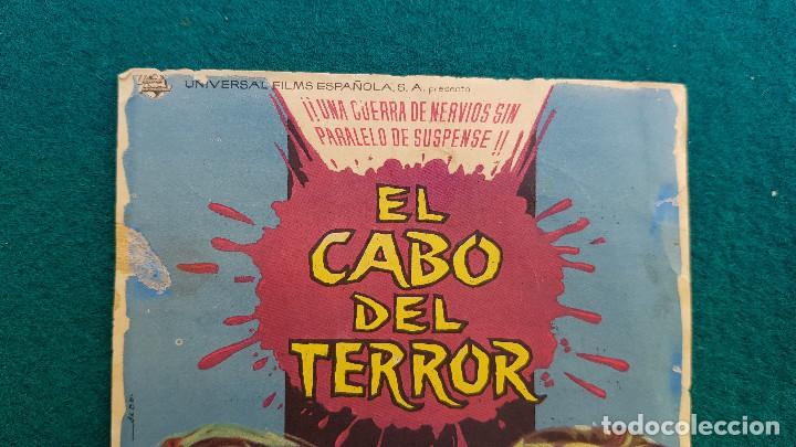Cine: PROGRAMA DE MANO CINE EL CABO DEL TERROR (1965) CON CINE AL DORSO - Foto 2 - 222667662