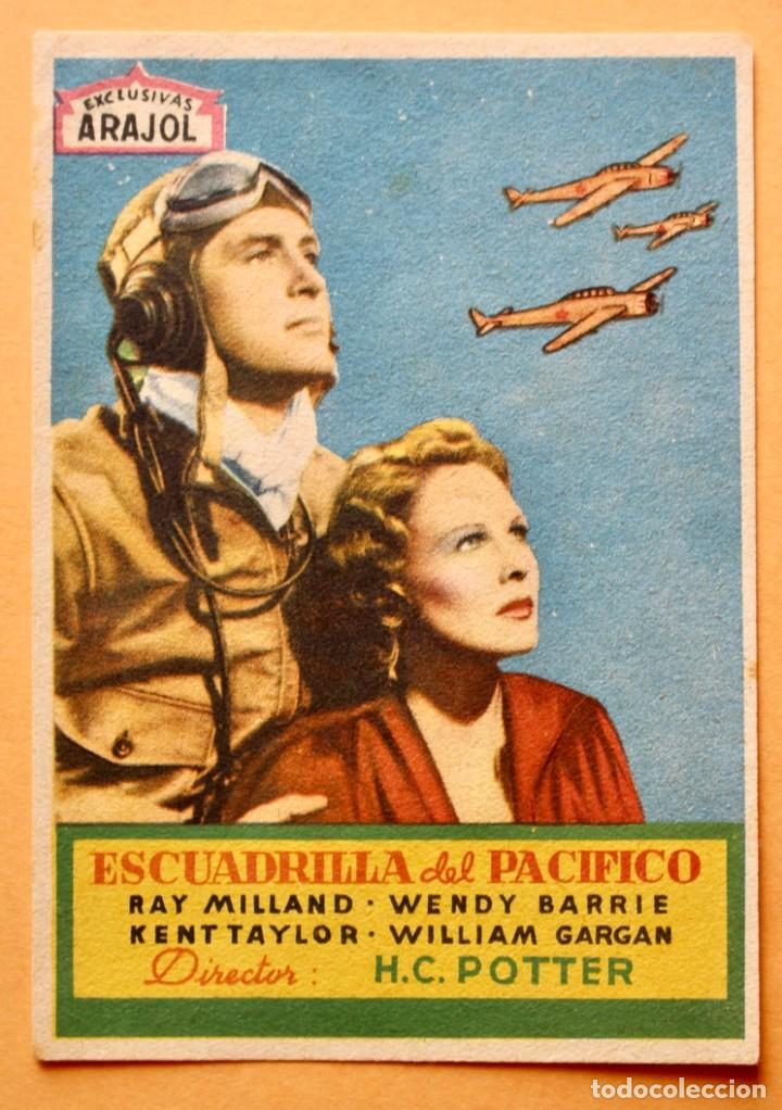 ESCUADRILLA DEL PACIFICO - RAY MILLAND, WENDY BARRIE - EXCLUSIVAS ARAJOL (Cine - Folletos de Mano - Bélicas)