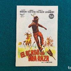 Cine: PROGRAMA DE MANO CINE EL OCASO DE UNA RAZA (1958) CON CINE AL DORSO. Lote 222672355