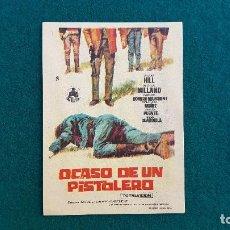 Cine: PROGRAMA DE MANO CINE OCASO DE UN PISTOLERO (S/F) CON CINE AL DORSO. Lote 222674708