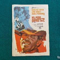 Cine: PROGRAMA DE MANO CINE EL MAS VALIENTE ENTRE MIL (1968) CON CINE AL DORSO. Lote 222682478