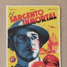 Cine: PROGRAMA DE CINE: EL SARGENTO INMORTAL. HENRY FONDA, MAUREEN O´HARA - SIN PUBLICIDAD.. Lote 222683110