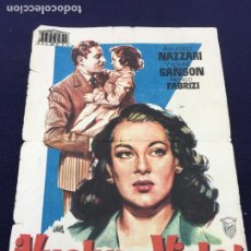 Cine: VUELVE A MI VIDA - MERCURIO FILMS - FOLLETO DE MANO SENCILLO - REF. FM-045. Lote 222685885