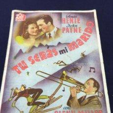 Cine: TU SERAS MI MARIDO - 20TH CENTURY FOX - FOLLETO DE MANO DOBLE - REF. FM-042. Lote 222687607