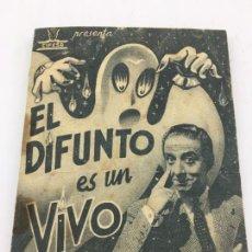Cine: EL DIFUNTO ES UN VIVO - CIFESA - FOLLETO DE MANO DOBLE - REF. FM-039. Lote 222691071
