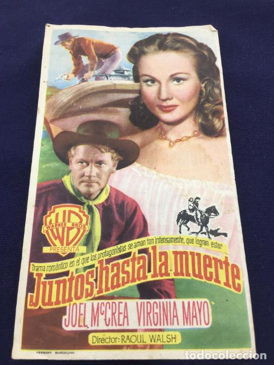 JUNTOS HASTA LA MUERTE - W.B. - FOLLETO DE MANO SENCILLO - REF. FM-036 (Cine - Folletos de Mano - Westerns)