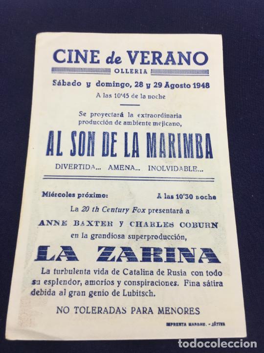 Cine: AL SON DE LA MARIMBA CON FERMANDO SOLER - FOLLETO DE MANO SENCILLO - REF. FM-059 - Foto 2 - 222700822