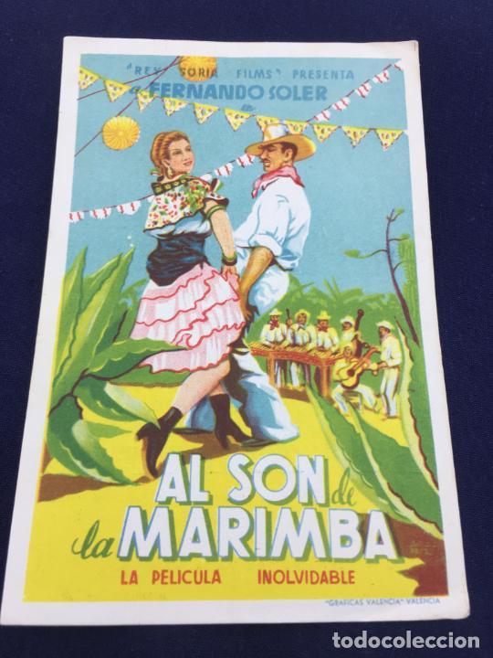 AL SON DE LA MARIMBA CON FERMANDO SOLER - FOLLETO DE MANO SENCILLO - REF. FM-059 (Cine - Folletos de Mano - Musicales)
