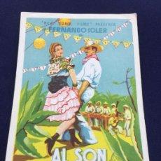 Cine: AL SON DE LA MARIMBA CON FERMANDO SOLER - FOLLETO DE MANO SENCILLO - REF. FM-059. Lote 222700822