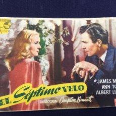 Cine: EL SEPTIMO VELO - FOLLETO DE MANO SENCILLO - REF. FM-062. Lote 222702716