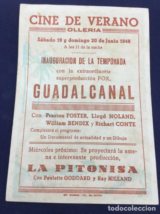 Cine: GUADALCANAL - FOLLETO DE MANO SENCILLO - REF. FM-063 - Foto 2 - 222703288