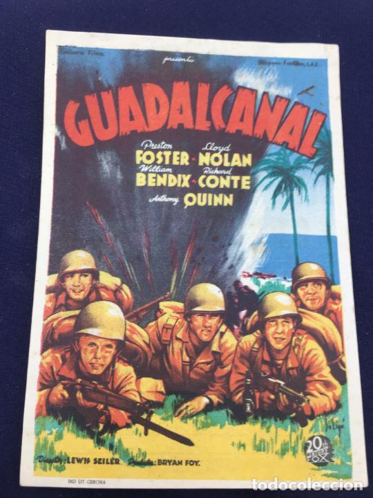 GUADALCANAL - FOLLETO DE MANO SENCILLO - REF. FM-063 (Cine - Folletos de Mano - Bélicas)