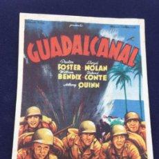 Cine: GUADALCANAL - FOLLETO DE MANO SENCILLO - REF. FM-063. Lote 222703288