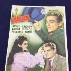 Cine: EL VAGABUNDO CON JANES CAGNEY- FOLLETO DE MANO SENCILLO - REF. FM-066. Lote 222706637