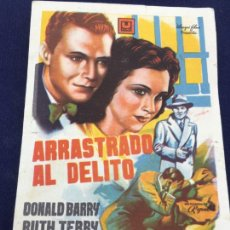 Cine: ARRASTRADO AL DELITO - FOLLETO DE MANO SENCILLO - REF. FM-067. Lote 222707486