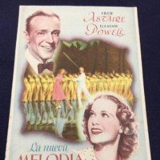 Cine: LA NUEVA MELODIA DE BROADWAY CON FRED ASTAIRE. - FOLLETO DE MANO SENCILLO - REF. FM-074. Lote 222712070