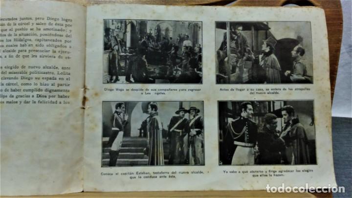 Cine: PROGRAMA DE LA PELÍCULA EL SIGNO DEL ZORRO.CON SÍNTESIS ARGUMENTO Y 48 FOTOGRAMAS.1940 APROX. - Foto 3 - 222727597