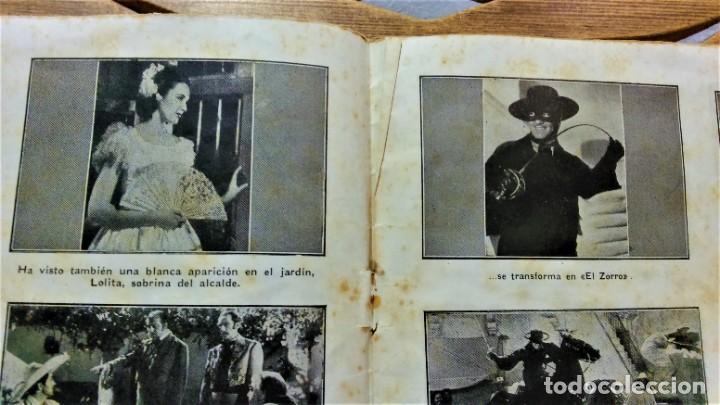 Cine: PROGRAMA DE LA PELÍCULA EL SIGNO DEL ZORRO.CON SÍNTESIS ARGUMENTO Y 48 FOTOGRAMAS.1940 APROX. - Foto 4 - 222727597