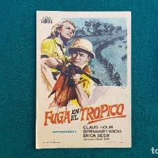 Cine: PROGRAMA DE MANO CINE FUGA EN EL TROPICO (1965) CON CINE AL DORSO. Lote 222743313