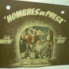 Cine: PROGRAMA DOBLE HOMBRES DE PRESA-JOHN WAYNE -. Lote 222749665