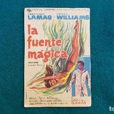 Flyers Publicitaires de films Anciens: PROGRAMA DE MANO CINE LA FUENTE MAGICA (1962) CON CINE AL DORSO. Lote 222754113