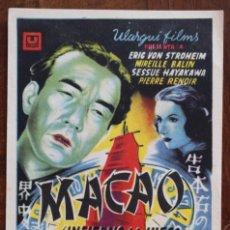 Cine: MACAO-INFIERNO DEL JUEGO-JEAN DELANNOY-ERIC VON STROHEIM-MIREILLE BALIN-PIERRE RENOIR-(1939). Lote 222792301