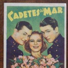 Cine: PROGRAMA DE MANO - CADETES DEL MAR. Lote 222794246