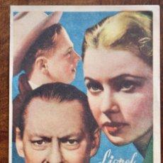 Cine: HONOR DE FAMILIA PROGRAMA SENCILLO MGM LIONEL BARRYMORE MICKEY ROONEY. Lote 222794633