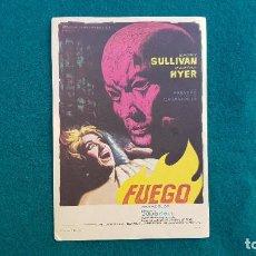 Cine: PROGRAMA DE MANO CINE FUEGO (1964) CON CINE AL DORSO. Lote 222798731