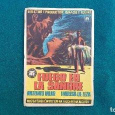 Folhetos de mão de filmes antigos de cinema: PROGRAMA DE MANO CINE FUEGO EN LA SANGRE (1954) CON CINE AL DORSO. Lote 222798873