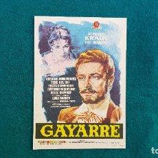 Cine: PROGRAMA DE MANO CINE GAYARRE (1960) CON CINE AL DORSO. Lote 222805238