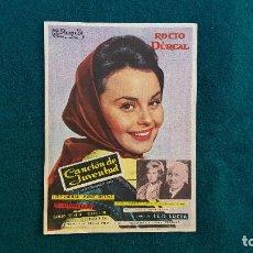 Flyers Publicitaires de films Anciens: PROGRAMA DE MANO CINE CANCION DE JUVENTUD (1962) CON CINE AL DORSO. Lote 222806403