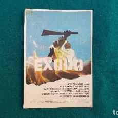 Cine: PROGRAMA DE MANO CINE EXODO (1962) CON CINE AL DORSO. Lote 222806585