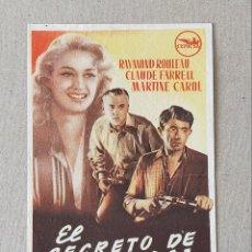 Cine: PROGRAMA DE CINE: EL SECRETO DE SAIGON. RAYMOND ROULEAU, CLAUDE FARRELL - SIN PUBLICIDAD.. Lote 222807848