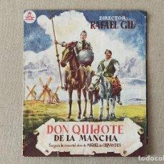 Cine: PROGRAMA DE CINE: DON QUIJOTE DE LA MANCHA. RAFAEL RIVELLES, JUNA CALVO - DOBLE SIN PUBLICIDAD.. Lote 222808828