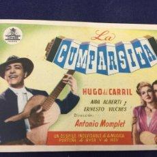 Cine: LA CUMPARSITA - FOLLETO DE MANO SENCILLO - REF. FM-129. Lote 222835268