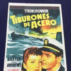 Cine: TIBURONES DE ACERO - FOLLETO DE MANO SENCILLO - REF. FM-127. Lote 222836271