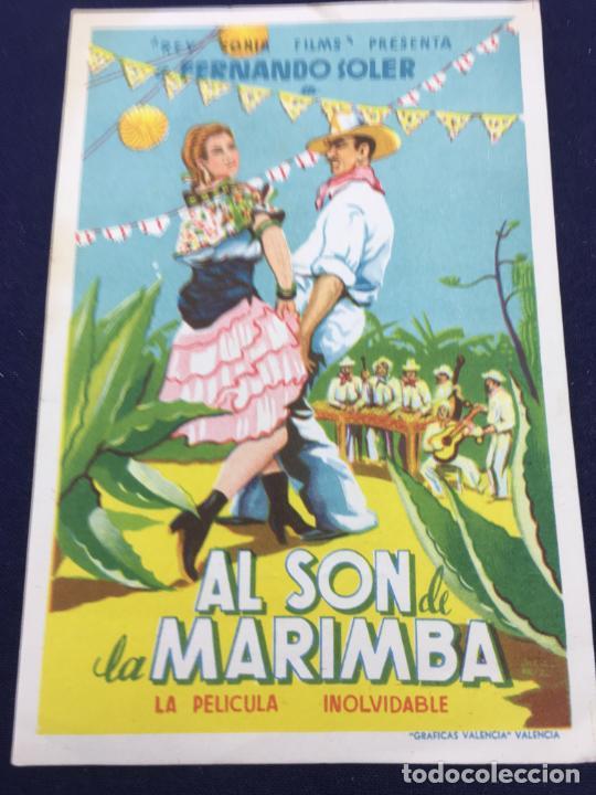 AL SON DE LA MARIMBA - FOLLETO DE MANO SENCILLO - REF. FM-122 (Cine - Folletos de Mano - Musicales)