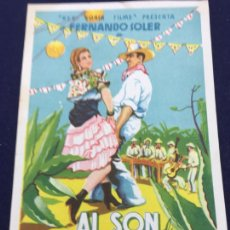 Cine: AL SON DE LA MARIMBA - FOLLETO DE MANO SENCILLO - REF. FM-122. Lote 222840541