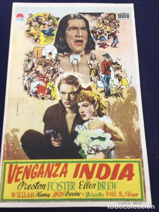 VENGANZA INDIA - FOLLETO DE MANO SENCILLO - REF. FM-111 (Cine - Folletos de Mano - Westerns)
