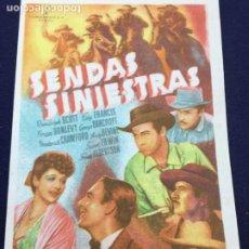 Cine: SENDAS SINIESTRAS - FOLLETO DE MANO SENCILLO - REF. FM-110. Lote 222856761
