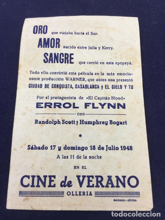 Cine: ORO AMOR Y SANGRE - FOLLETO DE MANO SENCILLO - REF. FM-108 - Foto 2 - 222858711