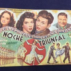 Cine: NOCHE TRIUNFAL - FOLLETO DE MANO SENCILLO - REF. FM-100. Lote 222888880