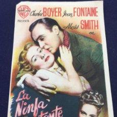 Cine: LA NINFA CONSTANTE - FOLLETO DE MANO SENCILLO - REF. FM-095. Lote 222910280